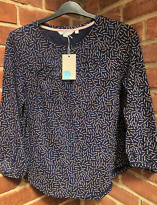 BNWT Navy blue ditsy floral long tunic top Plus size Long sleeves Cotton jersey