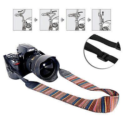 Camera Shoulder Neck Stripe Strap Belt Fit For Sony Nikon Canon Pentax DSLR