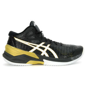 ASICS Men's Sky Elite FF MT Black/White Volleyball Shoes 1051A032.001 NEW