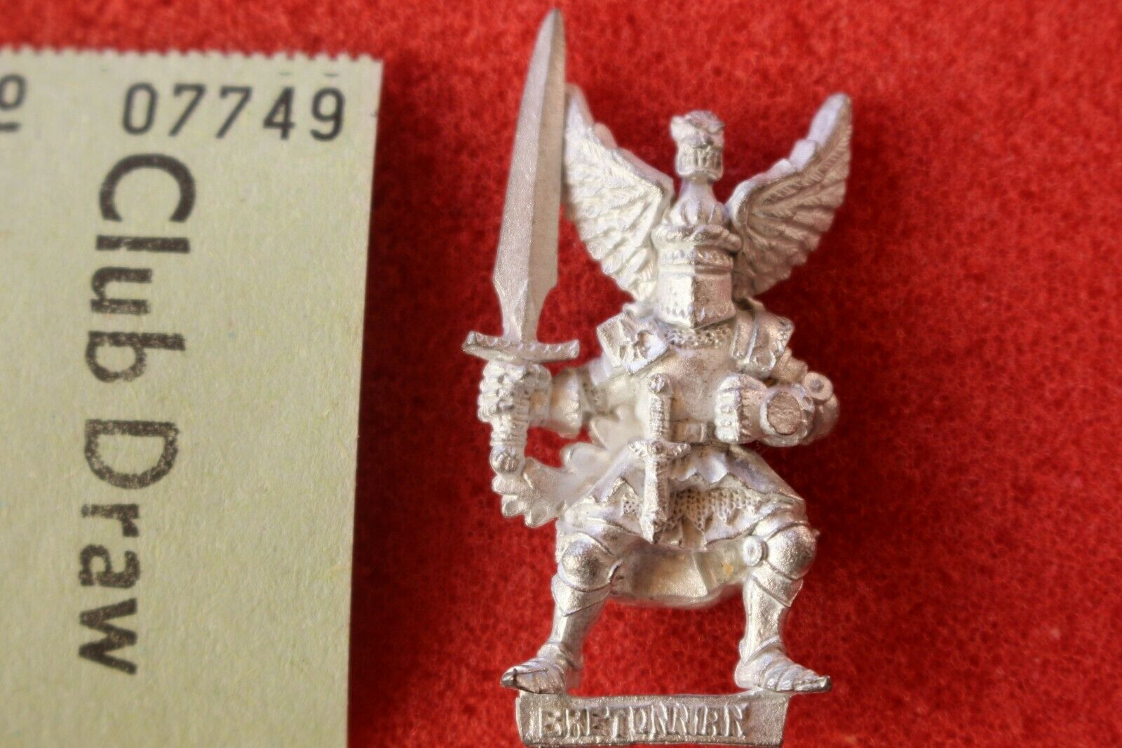 Warhammer Quest Bretonnian Questing Knight Metal Figure Citadel Games Workshop B