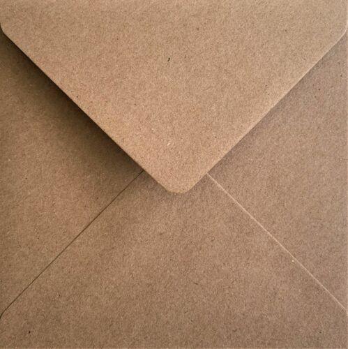 Recyclé Kraft Fleck enveloppes 110gsm Diamond gommé Rabat style vintage