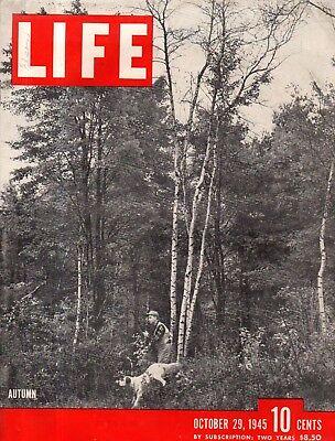 1945 Life Octubre 29 - Nazis Indicted; Romanoff's Restaurante. Iper Cub ; La FáCil Y Simple De Manejar