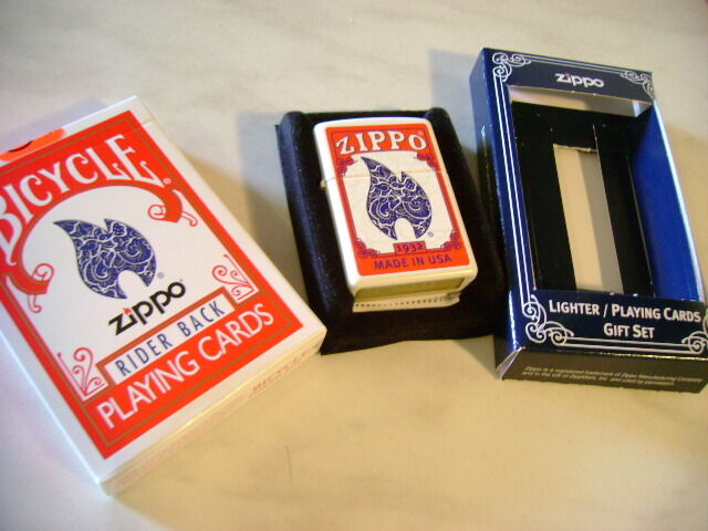 CARTE DA GIOCO BICYCLE ZIPPO,poker Größe + accendino