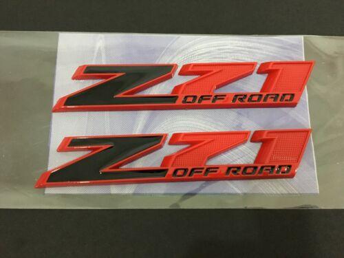 "2pcs 10/"" Big Z71 OFF ROAD Emblem for Silverado Sierra Truck Red Black"