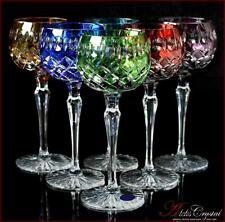 Bohemia Colored Crystal Wine Glasses 21 cm, 220 ml, Jasmine 6 pc New!