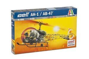 Bell AH 1//ab-47 Helicopter Plastic Kit 1:72 Model 0095 ITALERI