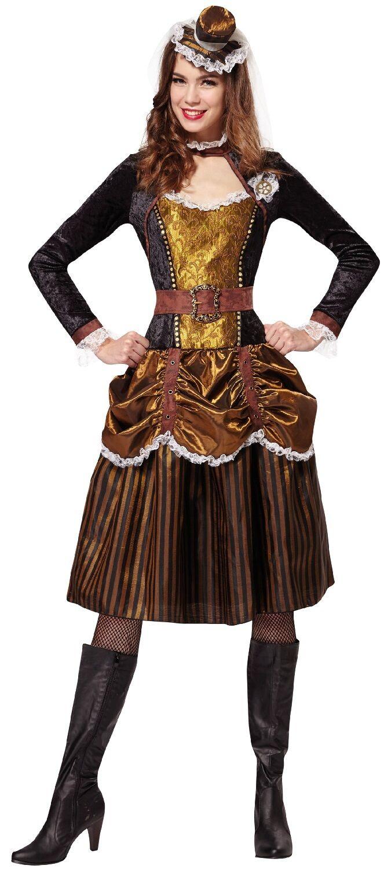 Damen Sexy Steampunk Steampunk Steampunk Historisch Prinzessin Kostüm Outfit UK 10-14 | Vorzüglich  69bd8c