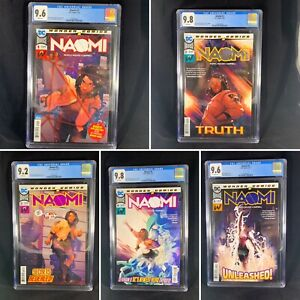 Lot-Of-5-Naomi-1-2-3-4-5-All-CGC-Graded-DC-Comics-Wonder-Bendis-Campbell