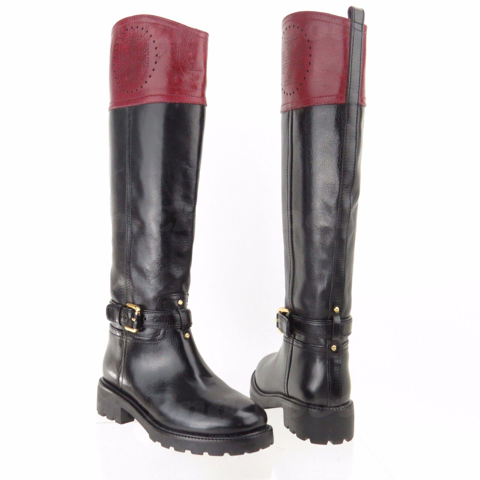 migliore offerta Tory Burch Daniela Donna  scarpe nero nero nero Maroon Leather stivali Dimensione 5 M  525  migliori prezzi e stili più freschi