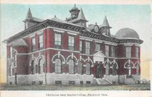 Oklahoma-State-Baptist-College-Blackwell-OK-ca-1920s-Vintage-Postcard