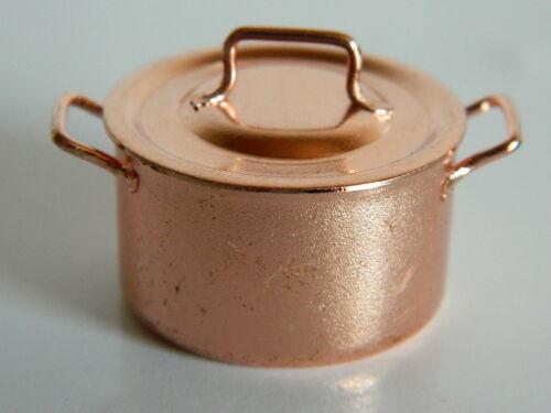 échelle 1//12th maison de poupées couleur cuivre métal Jam Pan KP24