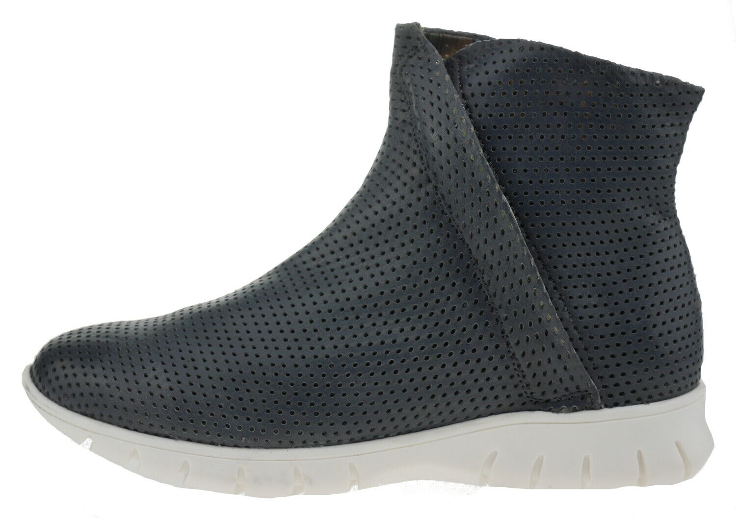 Lazamani Texas 74328 Leather Ankle Boots Grey 185800