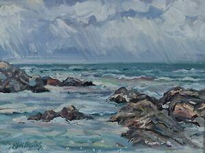 Ken-Faulks-Original-Impressionist-Oil-Painting-Ocean-Surf-Canadian-Listed-Artist