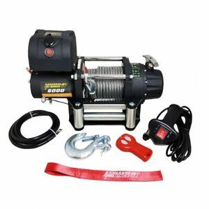 Elektrische Seilwinde PowerWinch 8000 12V 3628 kg 4x4 Pannenhilfe Kangaroo