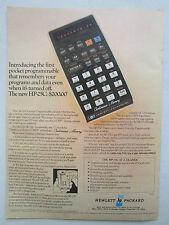 8/1976 PUB HP HEWLETT PACKARD HP-25C SCIENTIFIC CALCULATOR CALCULATRICE AD