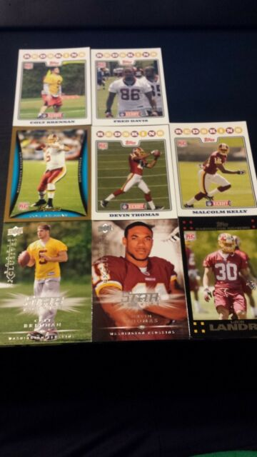 Washington Redskins Rookie Card Lot 8 Cards 07-08