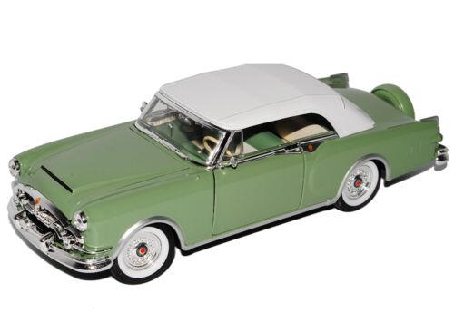 Packard Caribbean Cabrio Mit Hard Top Grün 1953 1//24 Welly Modell Auto mit oder