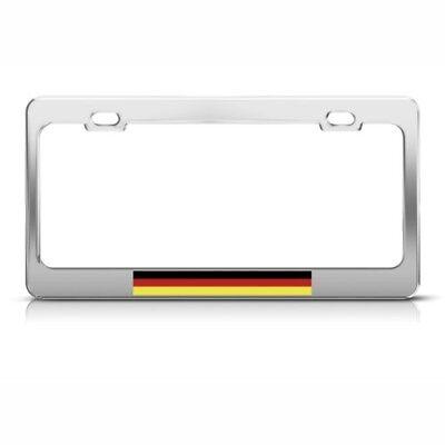 GERMANY GERMAN DEUTSCHLAND Metal License Plate Frame Tag Holder Two Holes