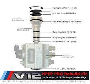Pro HPFP Rebuilding Kit for BMW Phantom V12 N73 Bosch High Pressure Fuel Pump