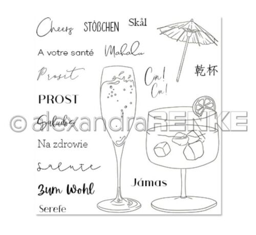Alexandra Renke Cocktails Clear Stamps-Cheers