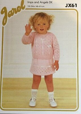 Jarol  Knitting Pattern ladies Short Sleeve Jumper Crepe DK Size 34//52/""