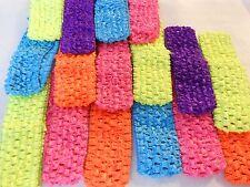 """16 pcs NEON Headbands Crochet Very stretchy 1.5"""""""