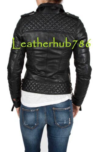 de Nueva 341 las Wear de las Black mujeres señoras chaqueta Party Lambskin Bikers Leather Pure q661rwnI
