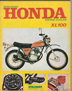 cycleserv honda xl100 xl 100 workshop manual very limited stock ebay rh ebay co uk honda xl 100 service manual honda xl 100 repair manual