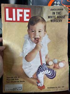 LIFE MAGAZINE NOVEMBER 24 1961 JFK JR JACKIE KENNEDY SAM RAYBURN ANNA MOFFO