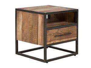 Nachttisch Nachtschrank Beistelltisch Schlafzimmer Holz Akazie Hell