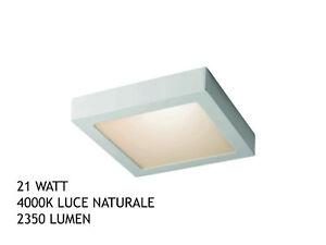 Plafoniera Led Soffitto : Plafoniera led soffitto 21w 220v pannello lampada 4000k 225x225x20mm