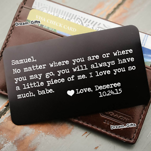 bff9664b8ae0 Image is loading Engraved-Wallet-Card-Personalised-Gifts-for-Him-Men-
