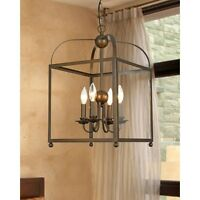 Rustic Lantern Chandelier Contemporary Hanging Pendant Light Fixture Lighting