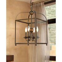 Rustic Lantern Chandelier Contemporary Hanging Pendant Light Fixture Lighting