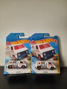 2020 Hot Wheels Super Van #68//250 HW Art Cars White