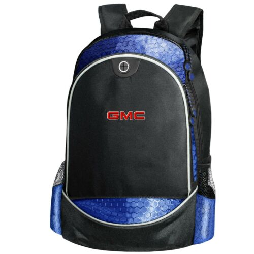 GMC CARBON Backpack EMBROIDERED Auto General Motors Logo Bag T Shirt Mens Gift