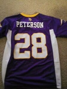 Details about NFL-MINNESOTA VIKINGS-ADRIAN PETERSON-YOUTH JERSEY-SIZE MEDIUM 10-12-REEBOK