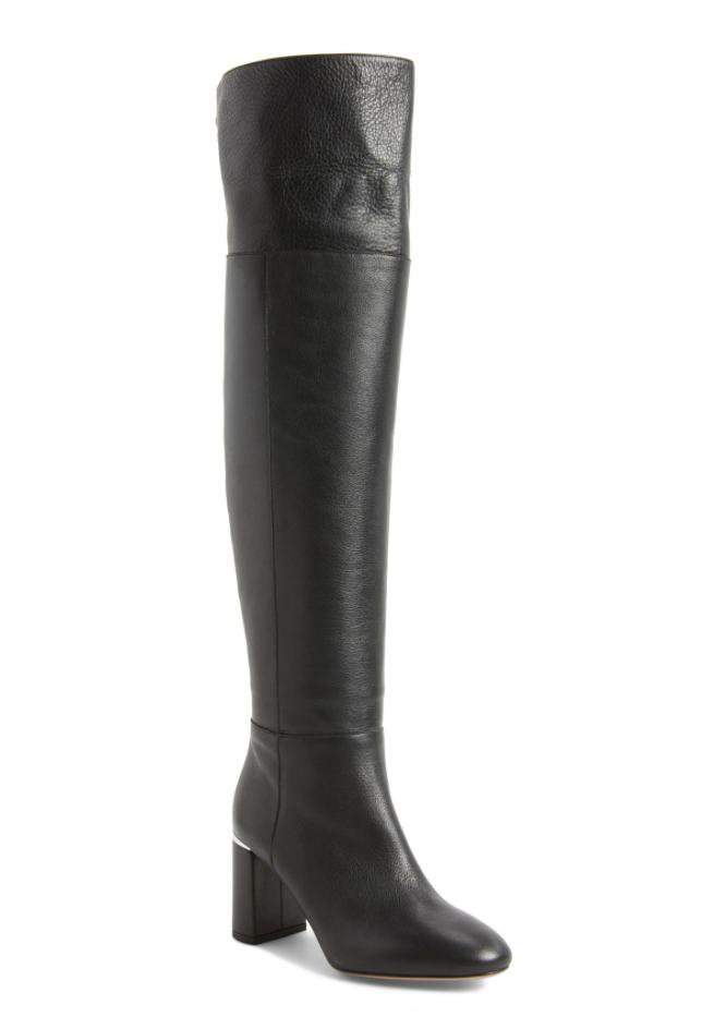 Lewit Renata Cuff Over Knee Women's Black Leather Boot Sz 38 EUR 2898