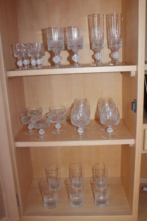 Gläser-Satz Trinkglas Weinglas Sektglas Schnapsglas Cognacglas Eierlikörglas alt