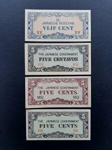 Set Japanese Invasion Money JIM (Netherlands Indie, Philippines, Malaya, Burma)