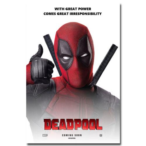 Deadpool Superhero Movie Silk Fabric Poster 13x20 24x36 inch 041