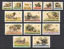 Tanzania 1980 Wildlife/Animals/Cats 14v set (n20835)