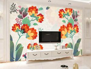 3D Cute Petal Plants 8 Wall Paper Murals Wall Print Wall Wallpaper Mural AU Kyra