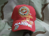United States Marine Corps The Few The Proud Red Adjustable Hat