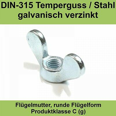 Nägel, Schrauben & Befestigung Muttern Verzinkt Gal Zn M 6,0 M6 Din 315 Flügelmutter Flügel Muttern Deutsche Form Galv