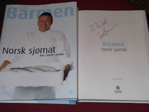 Signed-1st-Edition-LARS-BARMEN-039-Norsk-Sjomat-039-HB-VGC