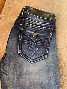 Rock Revival Pantalones Vaqueros Para Mujer 27x 31 Alexis Cenido Ajustado Ebay