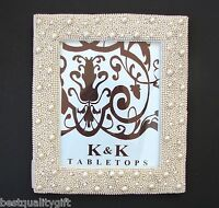 Tabletops Ivory White Pearl Classic Picture+photo Frame-8.5 X 10.5