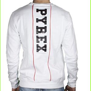 Sweatshirt Pyrex Mann 19epc40123 WHITE-L