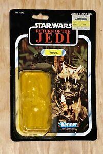 VTG 1983 Star Wars Teebo Ewok ROTJ Card 77 Back Kenner Display Showcase Cond
